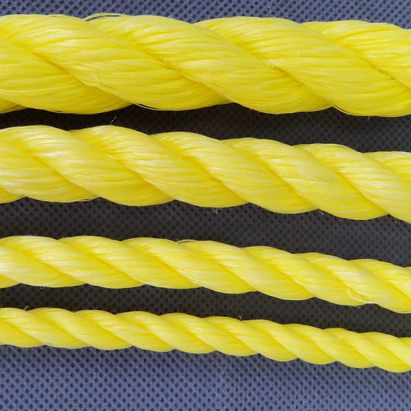 TYTAN yellow polyester rope sizes detail
